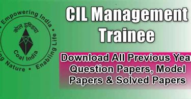 CIL Management trainee Previous Paper Download