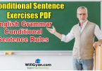 Conditional Sentence Exercises PDF Download, English Grammar Conditional Sentence Rules