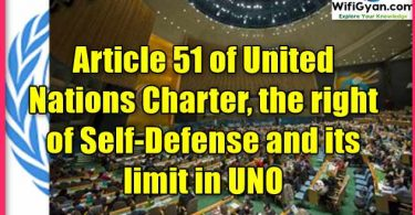Article 51 of United Nations Charter, the right of Self-Defense and its limit in UNO