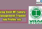 Vizag Steel MT Salary, Management Trainee Job Profile, etc