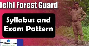 Delhi Forest Guard Syllabus and Exam Pattern