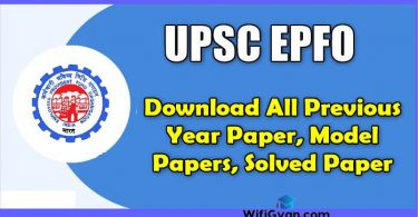 UPSC EPFO Previous Year Paper Download