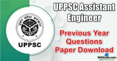 UPPSC Assistant Engineer Previous Year Questions Paper Download