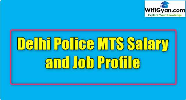 Delhi Police MTS Salary and Job Profile