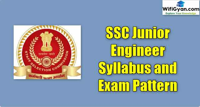 SSC Junior Engineer Syllabus and Exam Pattern