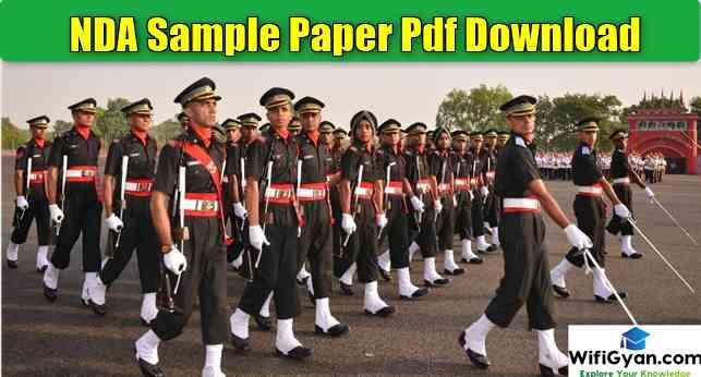 NDA Sample Paper Pdf Download/ NDA Exam Question Paper