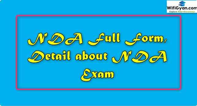 NDA Full Form, Detail about NDA Exam