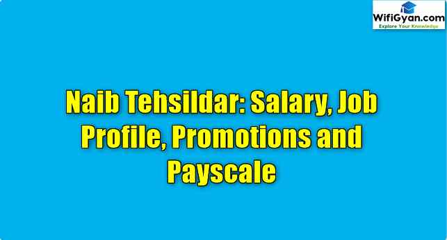 Naib Tehsildar: Salary, Job Profile, Promotions and Payscale