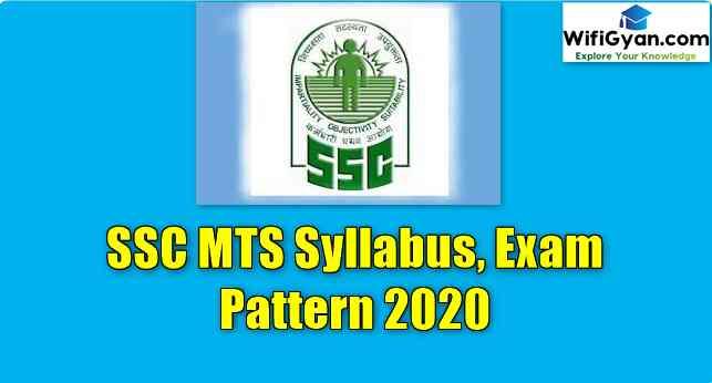 SSC MTS Syllabus, Exam Pattern 2020