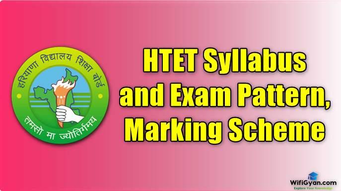 HTET Syllabus and Exam Pattern, Marking Scheme